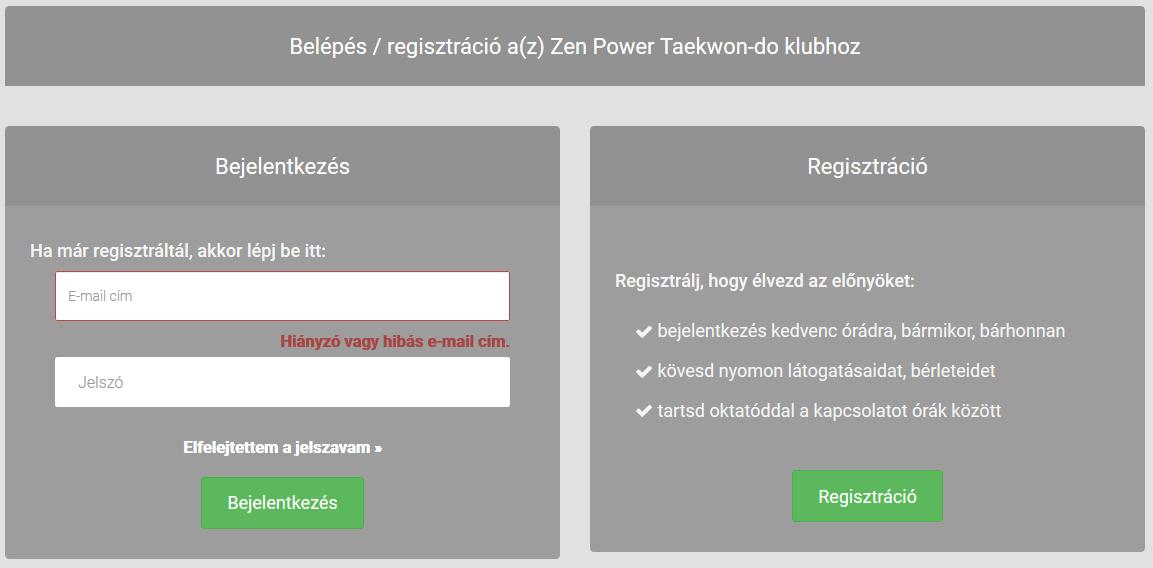 Motibro regisztracios-belepo oldal